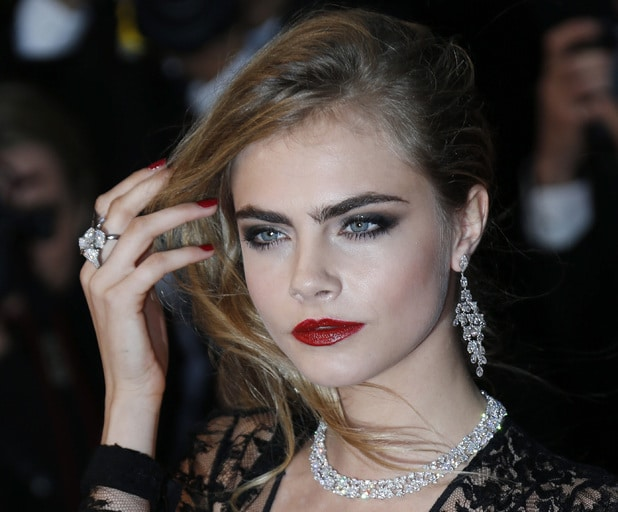 Cara Delevingne Great Gatsby make-up